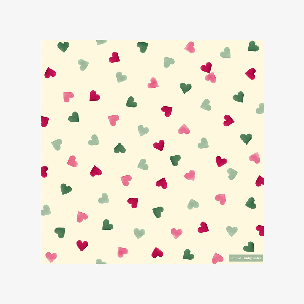 Pink & Green Hearts Lunch Napkins