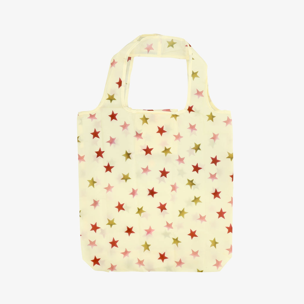 Pink & Gold Star RPET Foldaway Bag