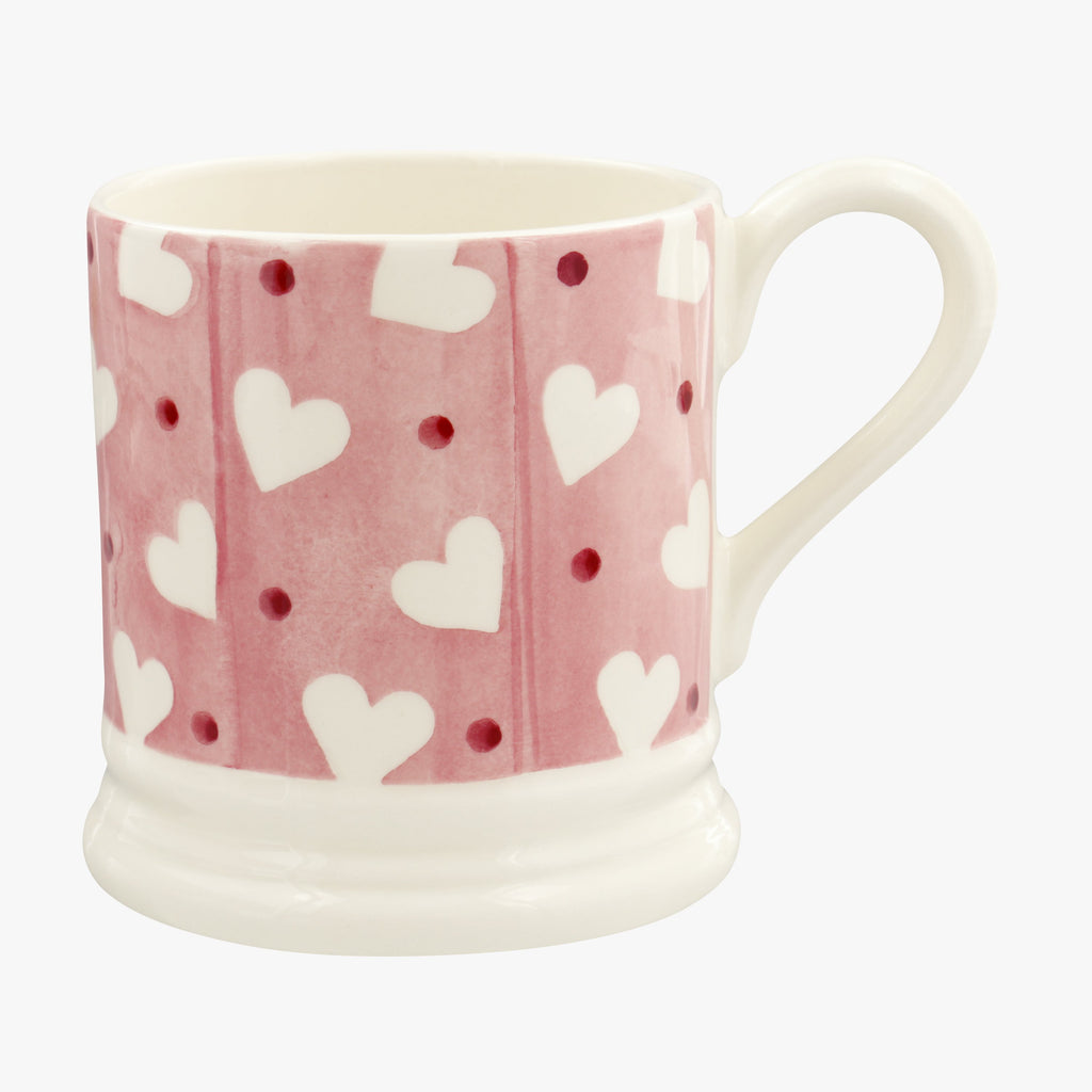Pink Hearts & Dots 1/2 Pint Mug