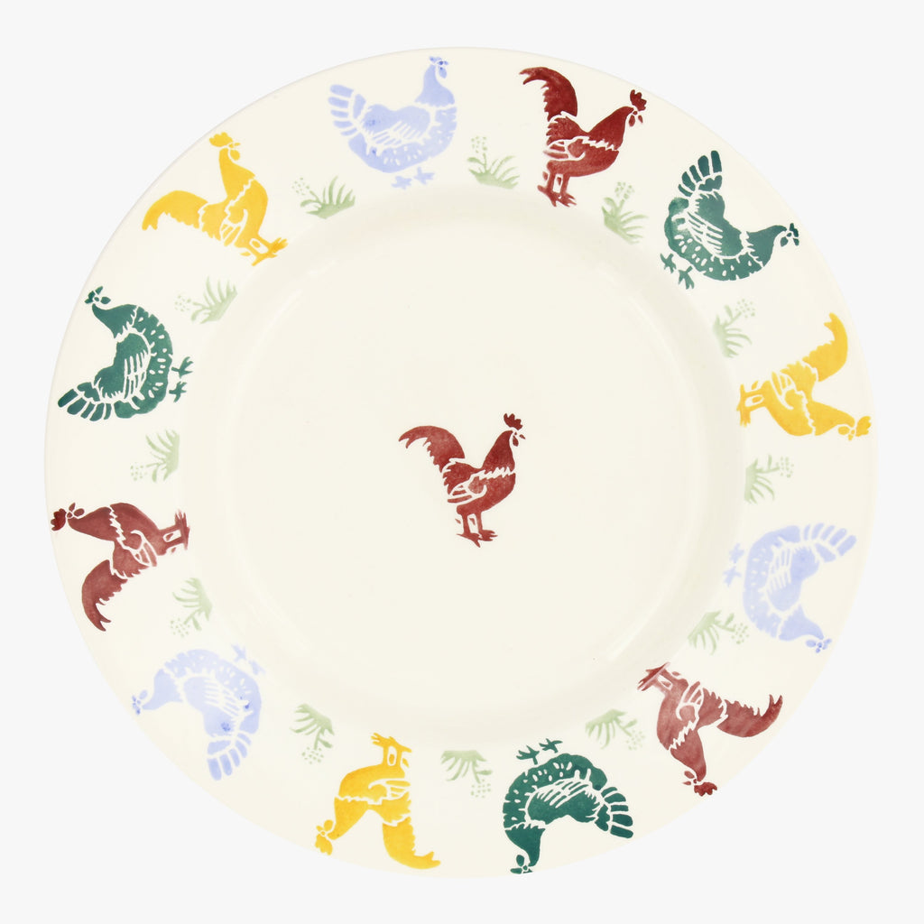 Seconds Polka Hens 10 1/2 Inch Plate