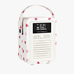 Pink Hearts Mini Bluetooth Retro Radio