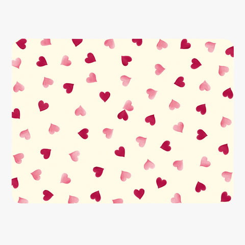 Pink Hearts Set of 4 Placemats