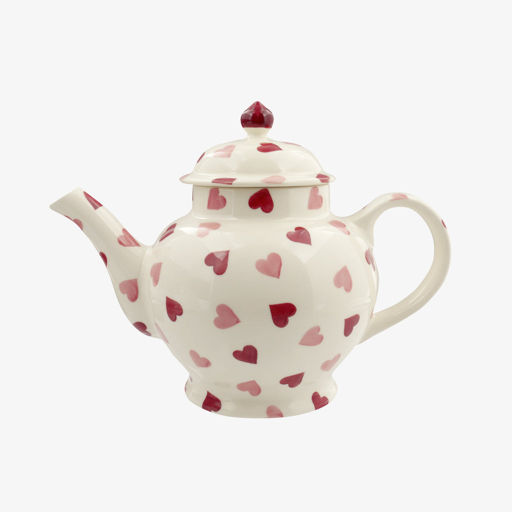 Seconds Pink Hearts 4 Mug Teapot