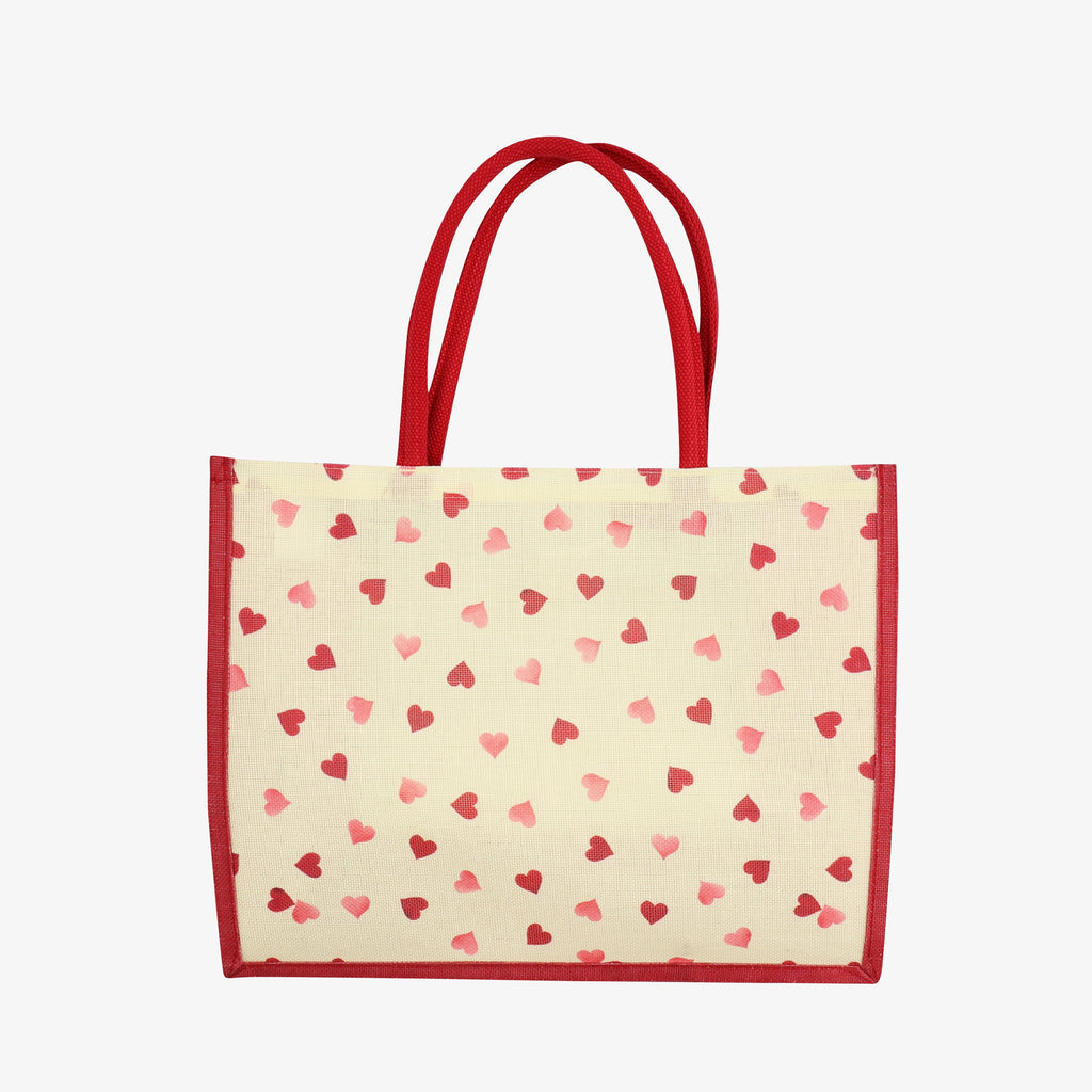 Pink Hearts RPET Shopper Bag