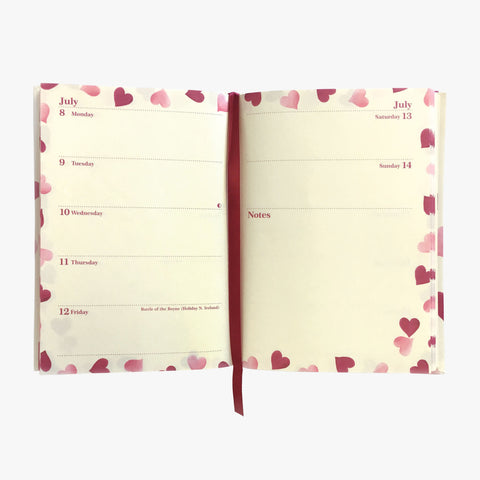 Pink Hearts 2019 A6 Diary
