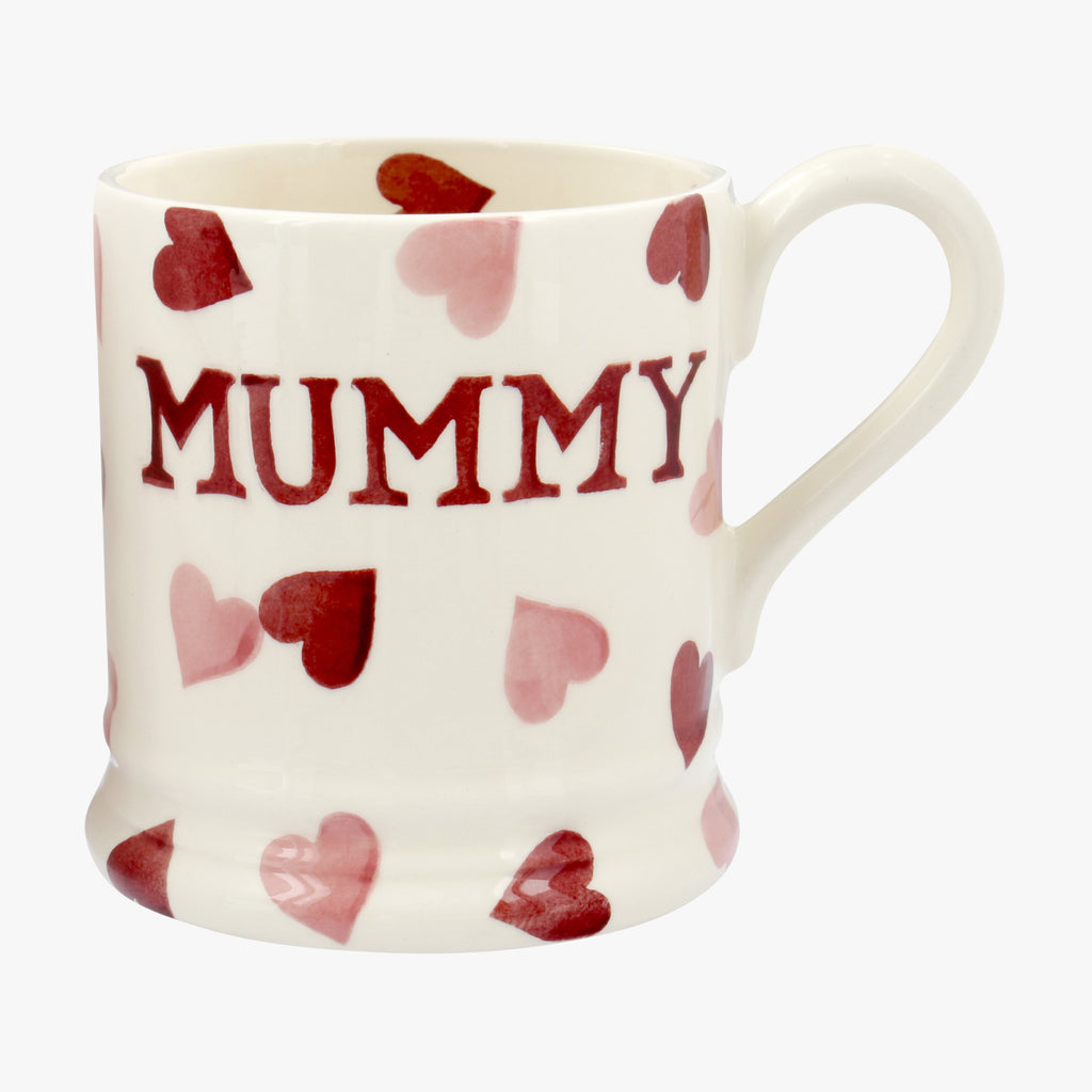 Seconds Pink Hearts Mummy 1/2 Pint Mug