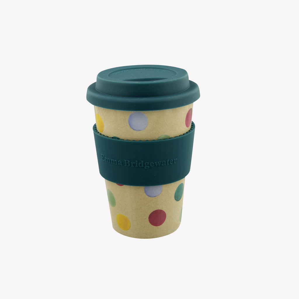 Polka Dot Rice Husk Travel Cup
