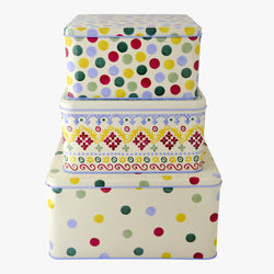 Polka Folk Set of 3 Cake Tins