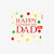 Polka Dot Happy Father's Day Card
