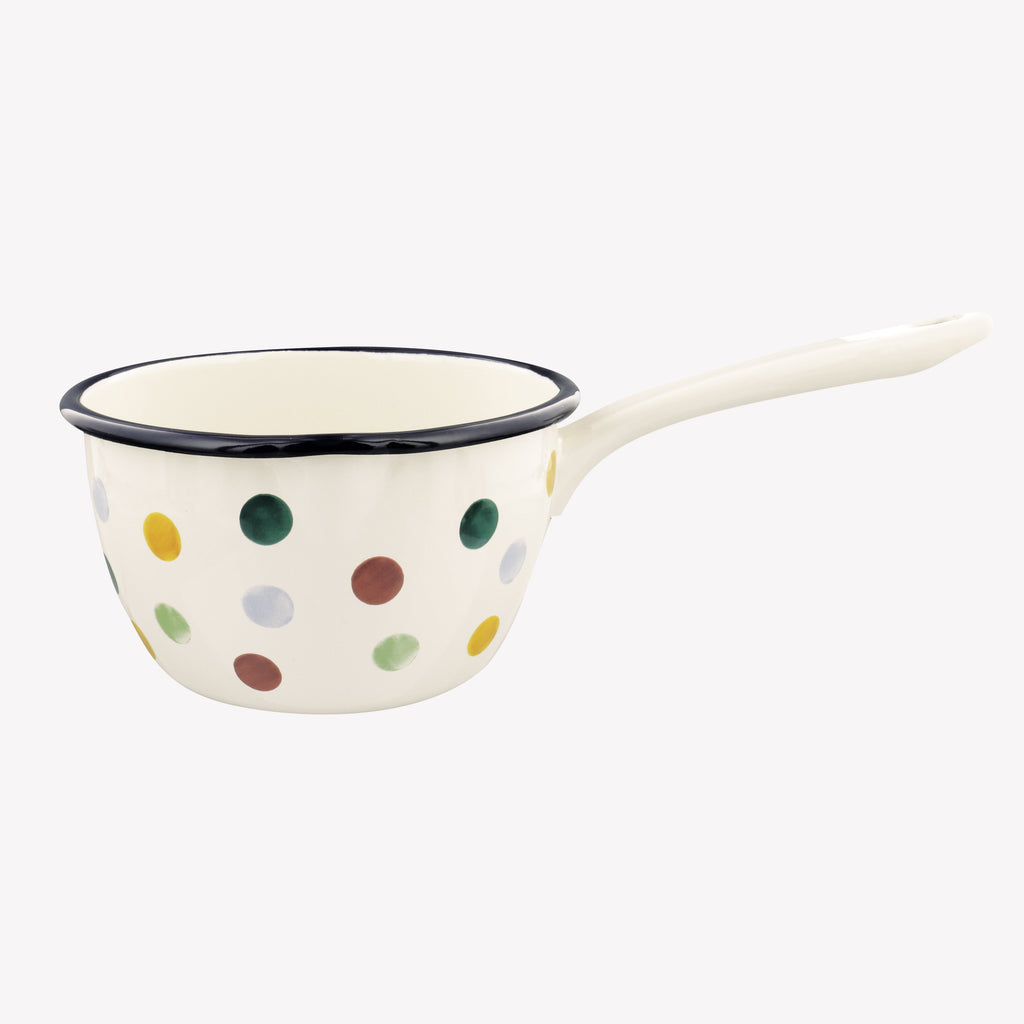 Polka Dot Medium Enamel Saucepan