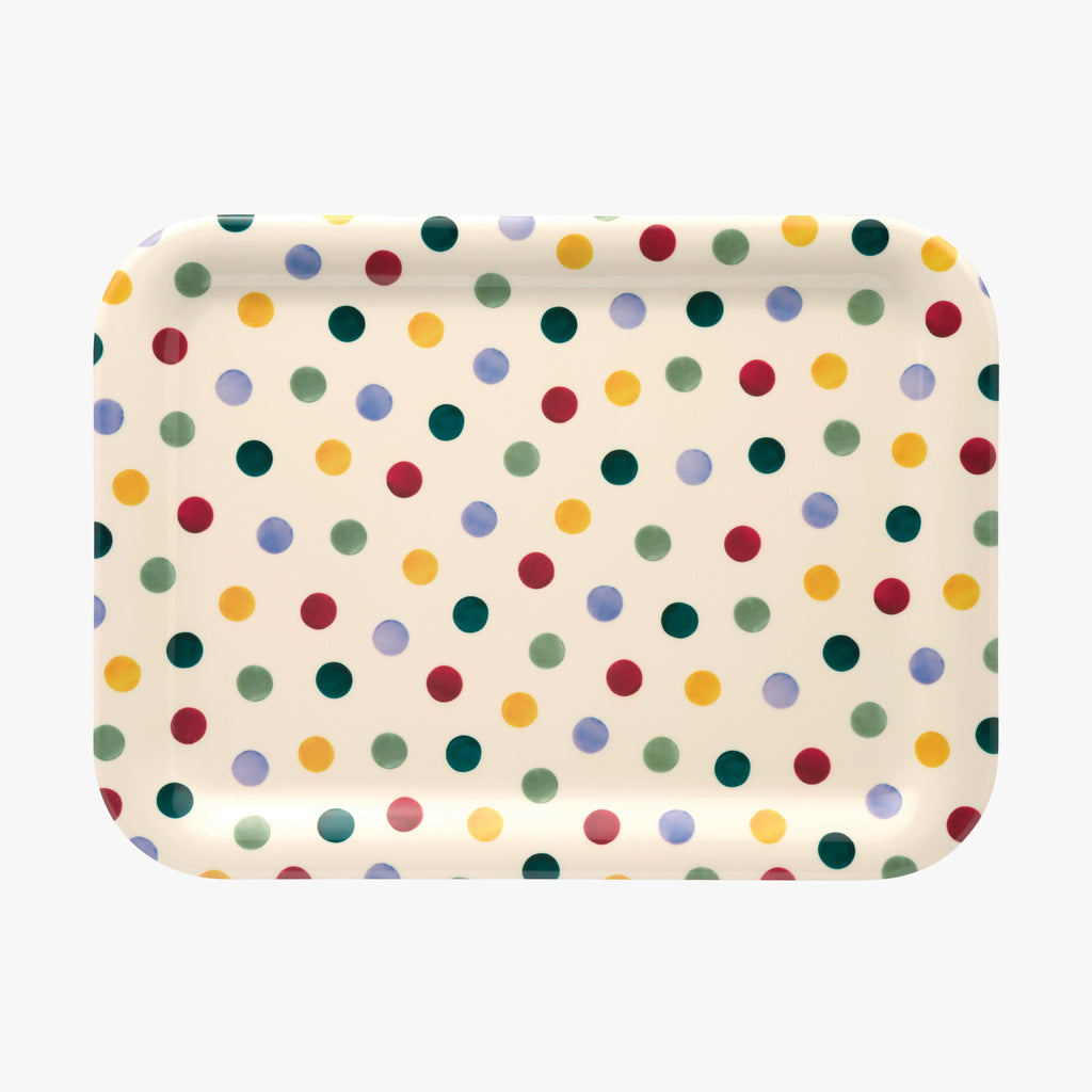 Polka Dot Medium Rectangular Melamine Tray