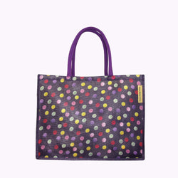 Purple Polka Dot RPET Shopper Bag