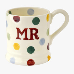 Seconds Polka Dot Mr 1/2 Pint Mug