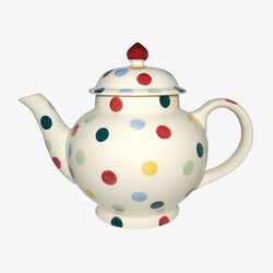 Seconds Polka Dots 4 Mug Teapot