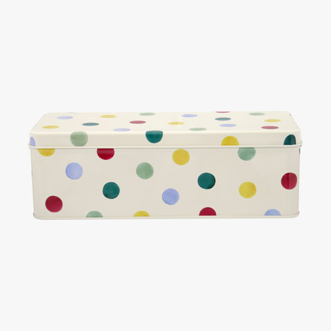 Polka Dot Long rectangular Tin