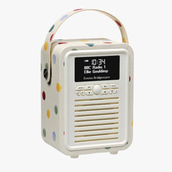 Polka Dot Retro Mini Radio