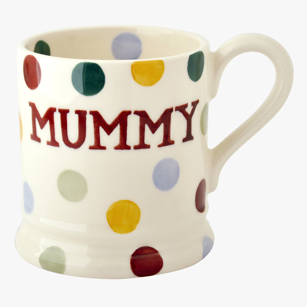 Seconds Polka Dot Mummy 1/2 Pint Mug
