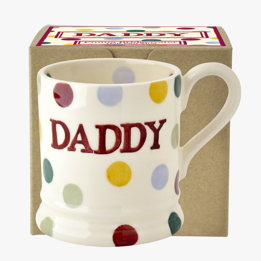 Polka Dot Daddy 1/2 Pint Mug Boxed