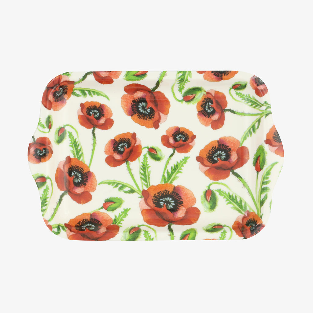 Poppy Small Melamine Tray