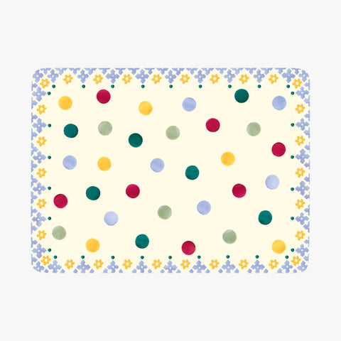 Polka Dot Folk Border Set of 4 Placemats