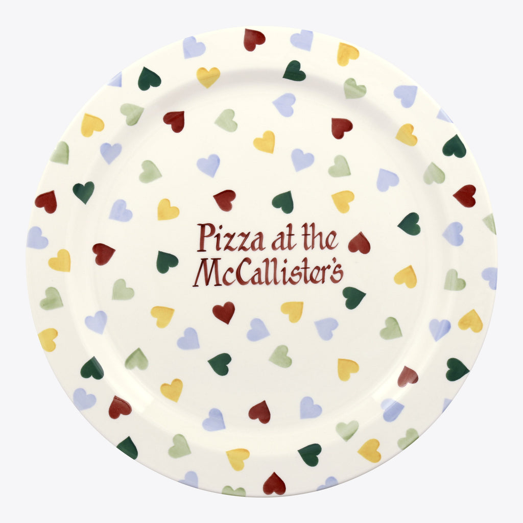 Personalised Polka Hearts Serving Plate