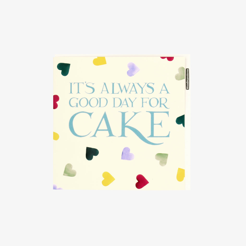 It's Always a Good Day for Cake Polka Hearts Birthday Card