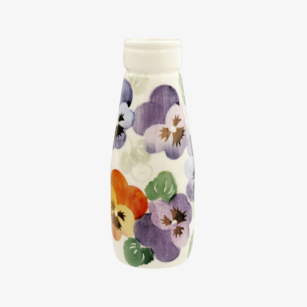Seconds Purple Pansy Small Milk Bottle