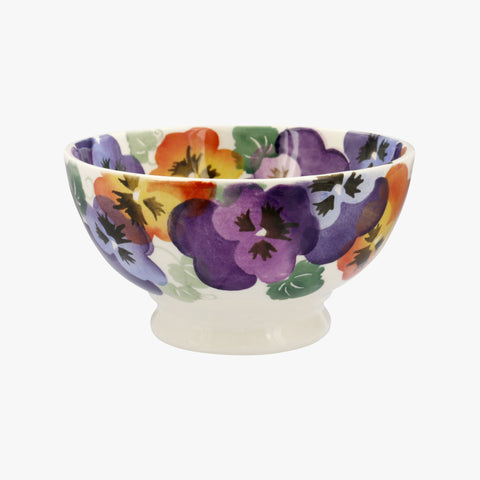 Purple Pansy French Bowl