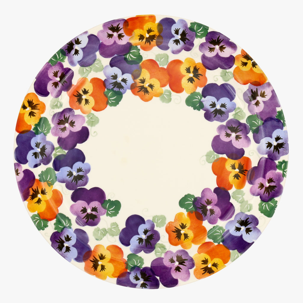 Purple Pansy Serving Plate