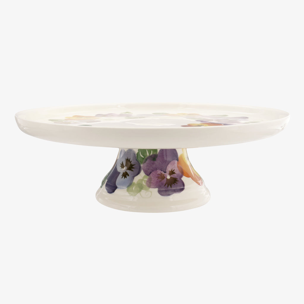 Purple Pansy Cake Stand