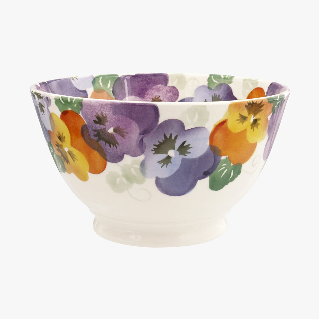 Seconds Purple Pansy Medium Old Bowl