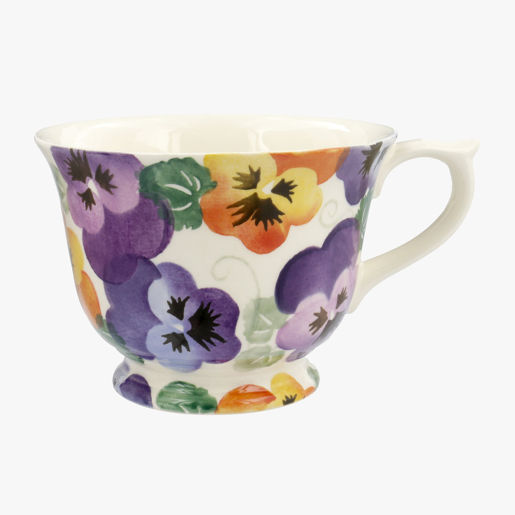 Seconds Purple Pansy Large Teacup