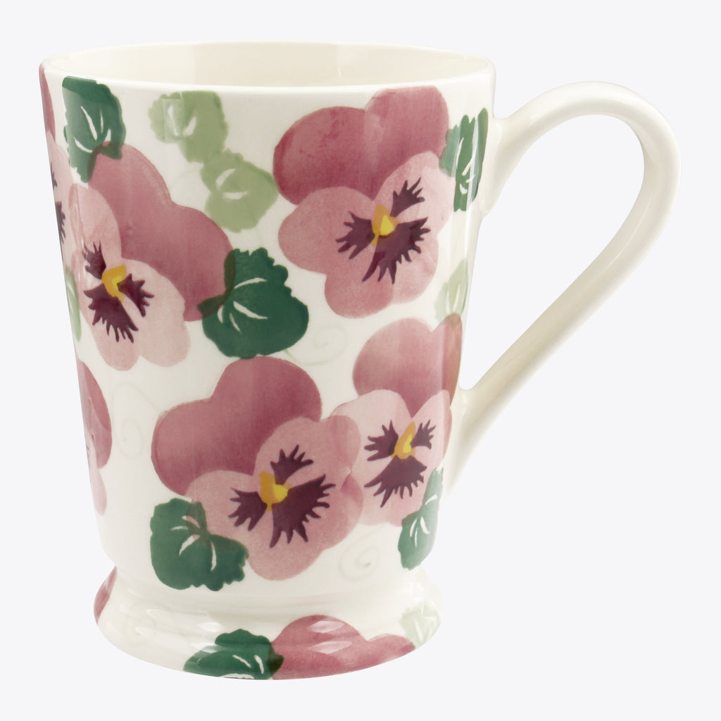 Seconds Pink Pansy Cocoa Mug