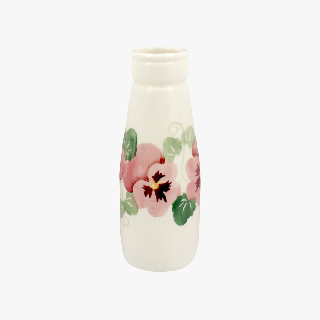 Seconds Pink Pansy Small Milk Bottle