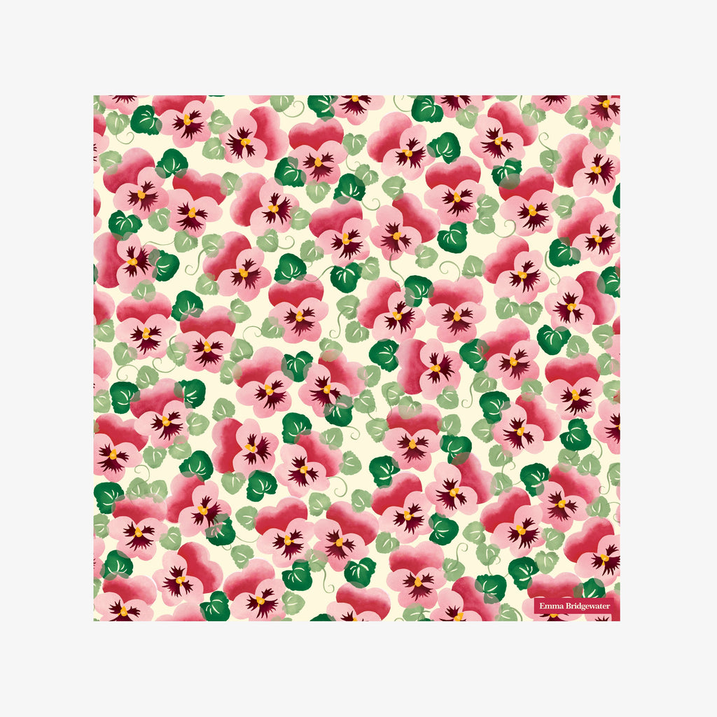 Pink Pansy Lunch Napkins