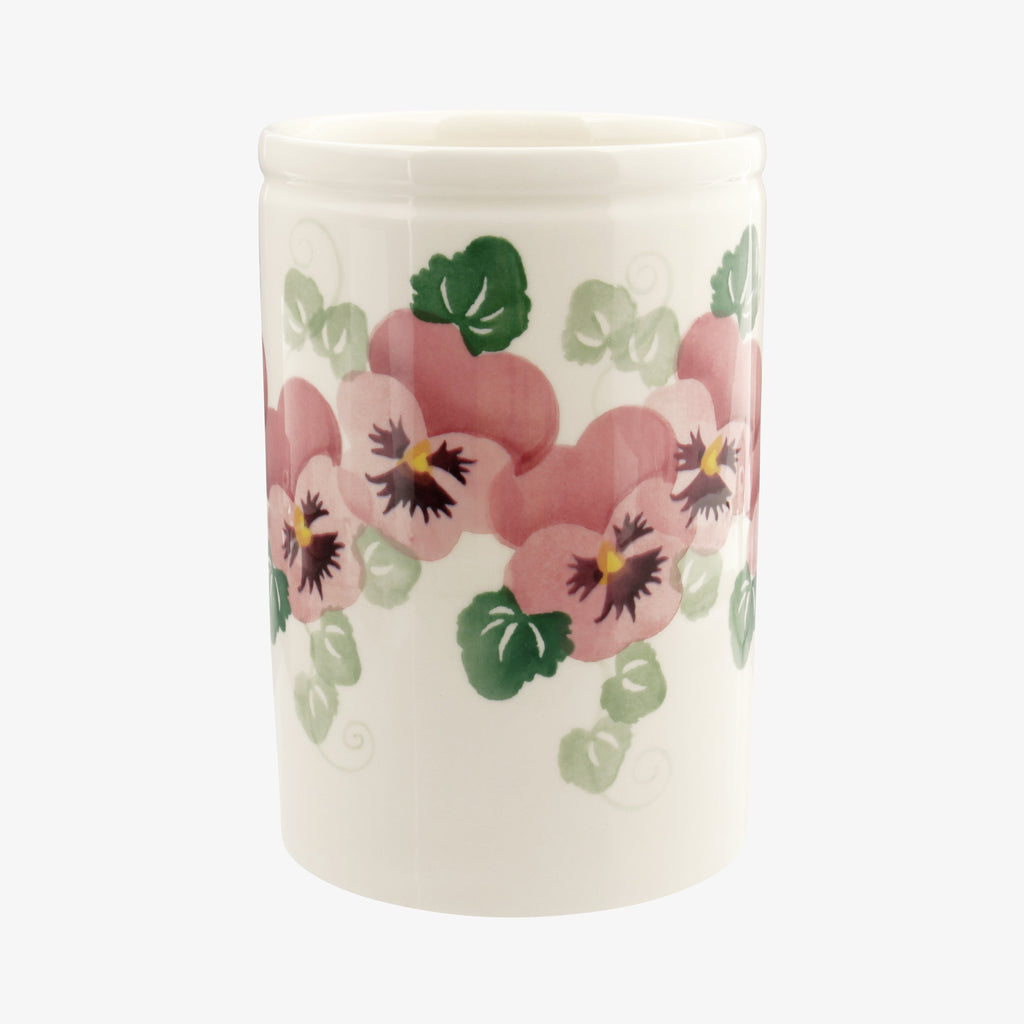 Seconds Pink Pansy Medium Vase