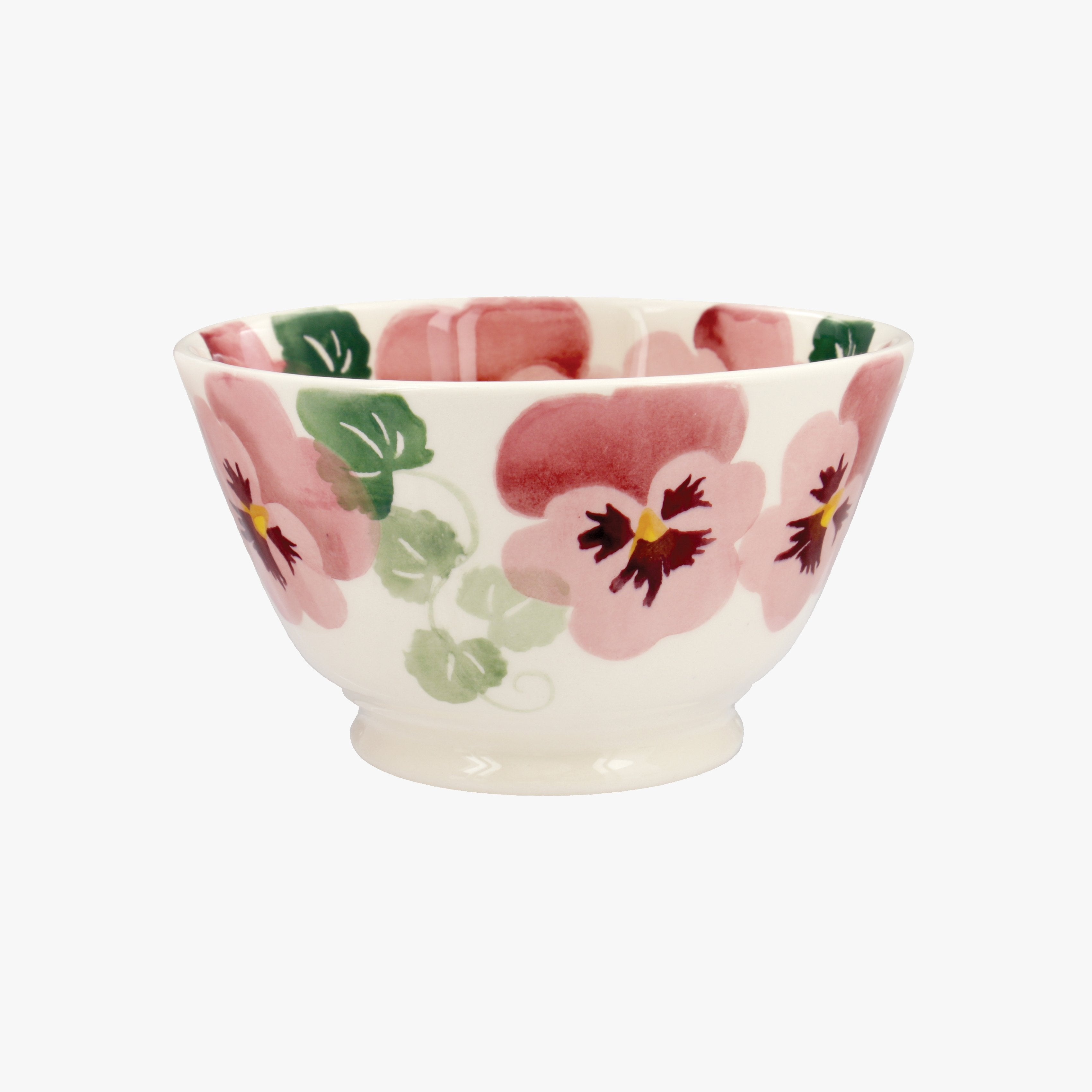 Image of Seconds Pink Pansy Small Small Old Bowl