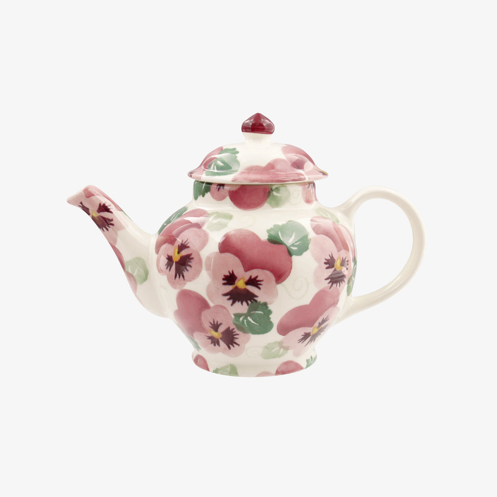 Seconds Pink Pansy 2 Mug Teapot