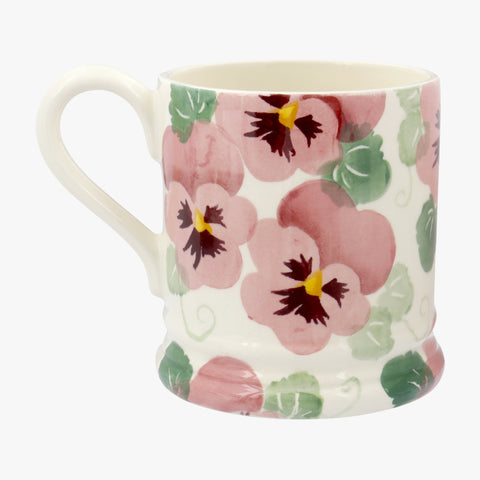 Seconds Pink Pansy Mum 1/2 Pint Mug