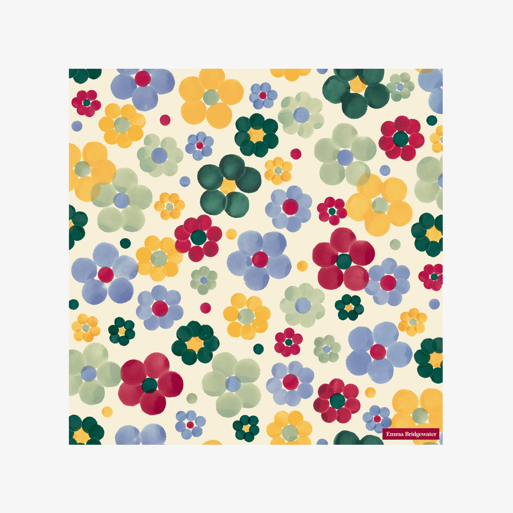 Polka Floral Lunch Napkins