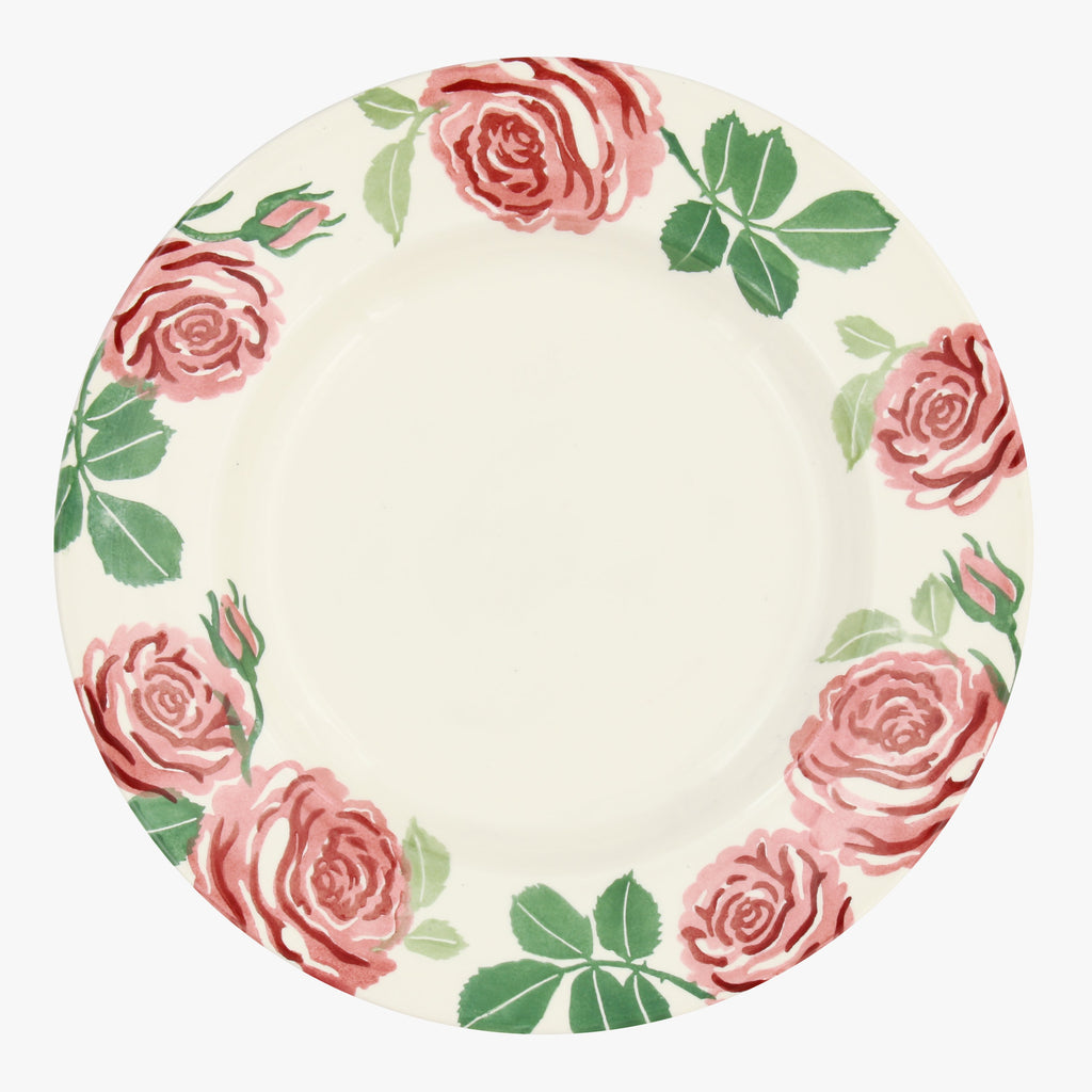 Seconds Pink Roses 10 1/2 Inch Plate