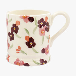 Pink Tiny Wallflower 1/2 Pint Mug