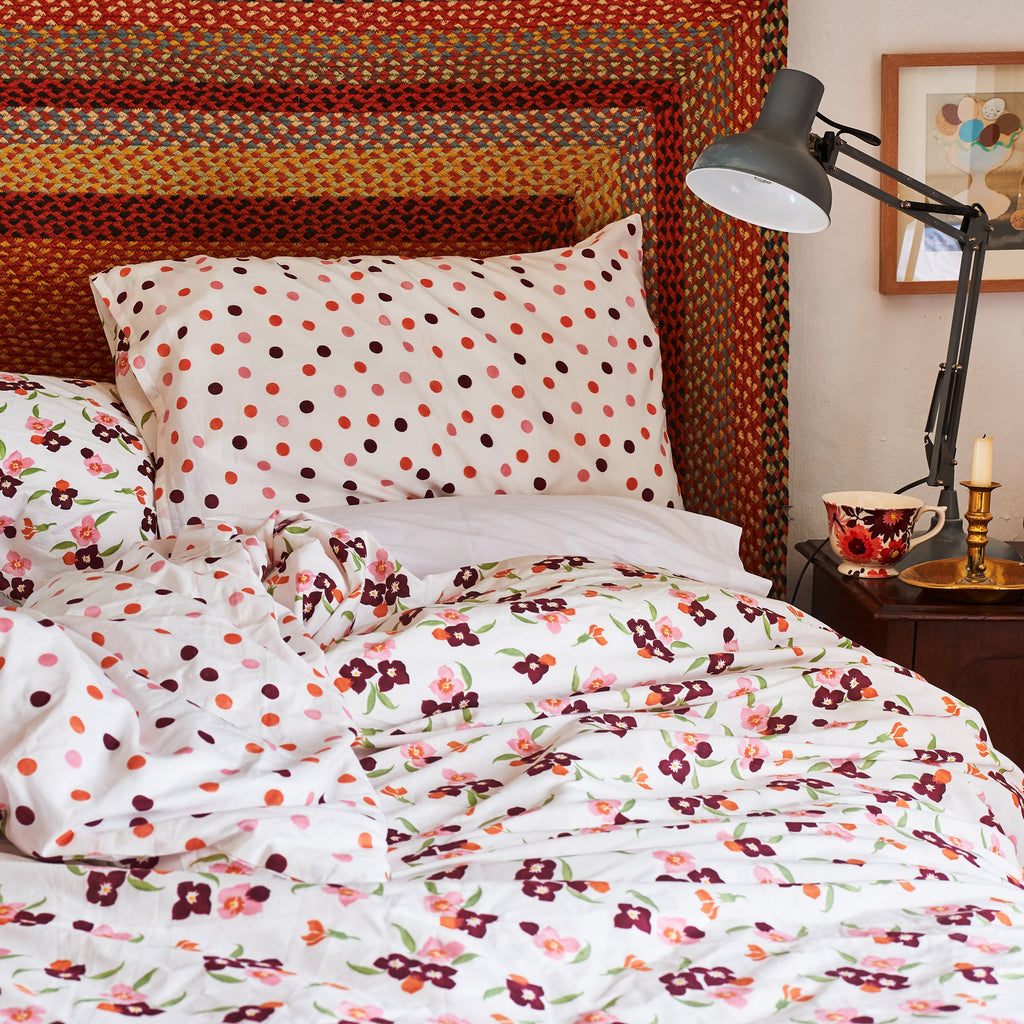 Pink Wallflower King Duvet Set