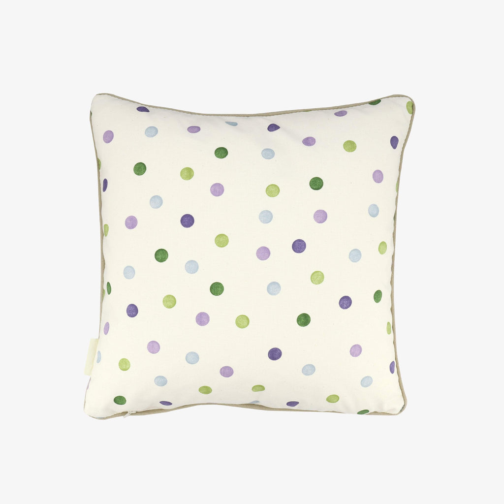 Purple Coral & Polka Dot Cushion