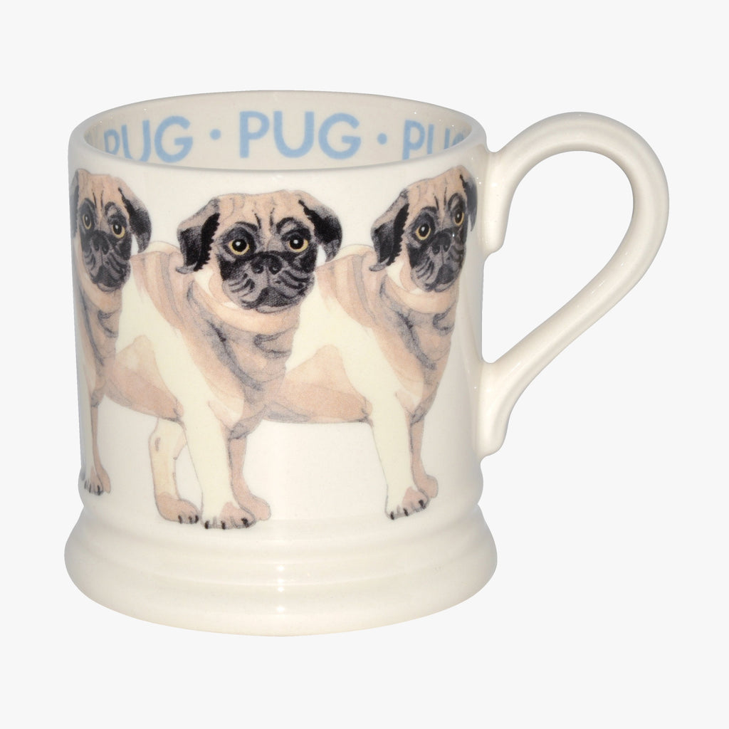 Emma Bridgewater Pug Tea & Coffee Mug - Adorable pugs handpainted on English earthenware, perfect teatime company for yourself or as a present to a dog lover