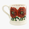 Seconds Flowers Red Anemone 1/2 Pint Mug