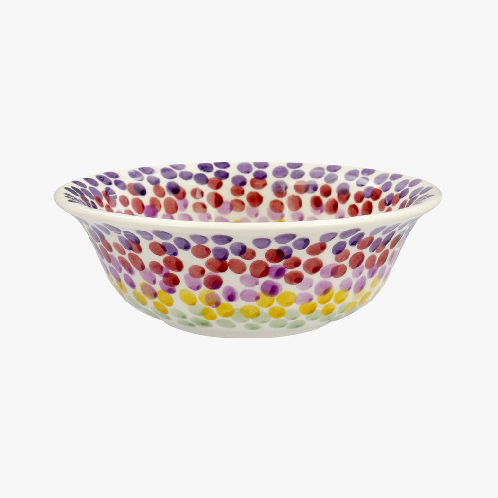 Rainbow Dots Cereal Bowl Outlet N A