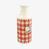 Red Gingham Highly Commended Ginger Beer Bottle Vase