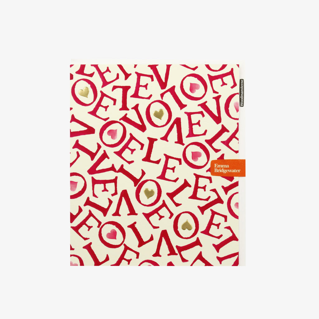 Red All-Over Love Valentine's Day Card