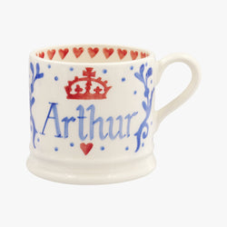 Personalised Royal Baby Blue Small Mug